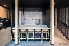 Hana Sushi Manufaktura, Łódź.    Projekt minimalistycznego sushi baru. Minimalist japanese restaurant. Modern sushi bar design.  www.milkdesigns.pl Hana Sushi, Teak, Modern, Table, Furniture, Home Decor, Design, Projects, Trendy Tree