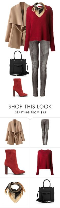 Sans titre #3454 by celyana on Polyvore featuring 0039 Italy, Balmain, Schutz, Rebecca Minkoff and Link