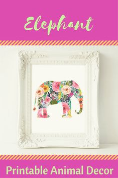 Printable Wall Art, Elephant printable art, Baby Girl Nursery decor, Nursery art, Baby Girl Elephant Nursery Print, love quote, gallery wall #Affiliate Diy Nursery Decor, Baby Girl Nursery Decor, Baby Room, Baby Girl Elephant, Elephant Nursery, Nursery Artwork, Nursery Prints, Animal Decor, Diy For Girls