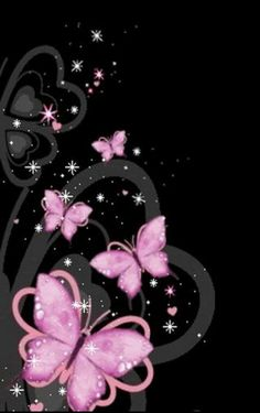 Pink Butterfly Backgrounds Download wallpaper free for mobile