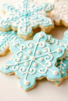 Frozen Birthday Party Ideas - Snowflake Cookies