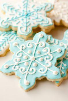 Frozen Birthday Party Ideas - Snowflake Cookies