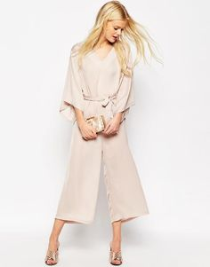 ASOS | ASOS Belted Jumpsuit with Kimono Sleeve at ASOS