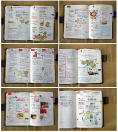 Journaling using stickers and written design.