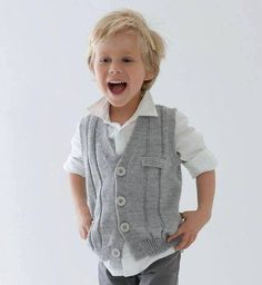 photo tricot modèle tricot gilet garçon 18 Best Picture For Crochet Pattern for kids free For Your Taste You are looking for something, and it. Knit Baby Sweaters, Boys Sweaters, Crochet For Boys, Knitting For Kids, Baby Knitting Patterns, Boys Waistcoat, Baby Boy Suit, Baby Cardigan Knitting Pattern, Baby Pullover