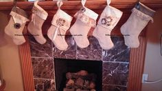 """Beautiful Primitive 16"""" lined Christmas stockings. Hand crafted burlap, muslin , and homespun fabric by WhimsicallWears on Etsy"""
