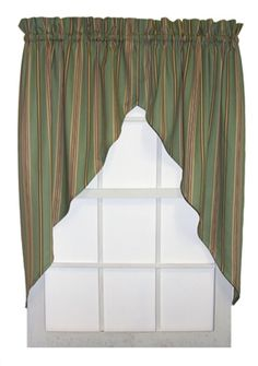 Beautiful new Warwick Stripe Jabot curtains. Available in 2 great print patterns, green stripe and yellow stripe Valance Curtains, Drapes Curtains, Curtains, Windows, Country Kitchen Curtains, Window Curtains, Window Toppers, Curtain Styles, Discount Curtains