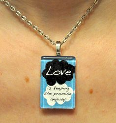 The Fault in Our Stars John Green Quote Necklace 2 by AmeryStudios,