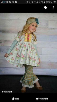 f7be340a0 Sea of Glass Gigi Set Girls Ruffle Pants, Girls In Leggings, Cute Baby Girl