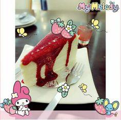 おいしそうなチーズケーキだよ♡  今日はどんなスイーツを食べようかな♡  マイメロちゃんのフレームでデコってかわいさUPさせよう♡   Would you like to take a break with a cheese cake?  What is your favorite kinds of sweets ♡?  Decorate a picture with the cute MyMelody frame and stamps to make it even cuter♡    Photo taken by ladiie on Kawaii★Cam   Join Kawaii★Cam now :)   For iOS:   https://www.kwcam.co   For Android :   https://play.google.com/store/apps/details?id=jp.co.aitia.whatifcamera    Follow me on Twitter :)   https://twitter.com/WhatIfCamera…