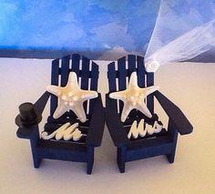 Adirondack Chair Cake Topper  Knobby Star fish  cake