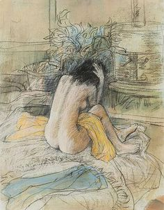 William Boissevain - Seated nude