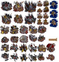Warcraft II - Orc Buildings (Winter)