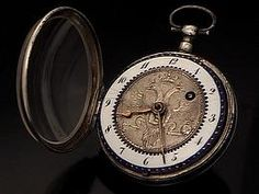 18th century silver pocket watch with Russian Imperial eagle