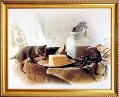 Impact Posters Gallery Country Cute Kitten Homemade Butter Still Life Golden Framed Wall Decor Picture Art Print Frame Wall Decor, Framed Wall Art, Wall Art Decor, Wall Art Prints, Poster Prints, Art Posters, Country Framed Art, Country Art, Poster Display