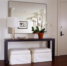 Modern foyer table modern entry table foyer large furniture tables ways hallway on entryway decorating ideas . Entrance Table, Entry Tables, Entrance Foyer, Hallway Tables, Entry Hallway, White Hallway, Long Hallway, Modern Entryway, Entryway Decor