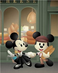 Created this Mickey Mouse and Minnie Mouse piece for the Disney California Adventure Food and Wine Festival Mickey And Minnie Love, Mickey Mouse Art, Mickey Mouse And Friends, Disney Mickey, Disney Pixar, Walt Disney, Disney Characters, Disney Love, Disney Magic