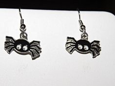 Black Spider Earrings. Halloween. Surgical by NammersCrafts