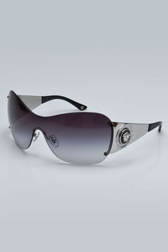 521b3596cf Mary Frances Sunglasses in Silver and Bla