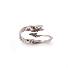 Adjustable Sea Serpent Stacking Ring  www.silverella.nyc #seasnake #seaserpent #monstersofthedeep #stackingring #adjustablering #silverella #pirateprincess