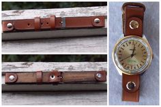 New Leather Classic Wristwatch Band, Strap For Men's Watch, Brown, Casual,18 mm #Handmade
