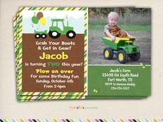 Groene trekker Birthday Party uitnodiging door RachellesPrintables