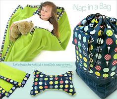 Nap in a Bag: Blanket and Pillow in a Matching Bag