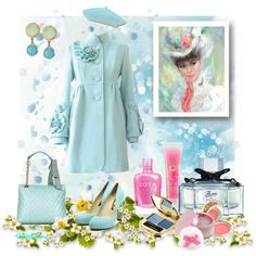 """The Colors: Celeste"" by fiordiluna on Polyvore"