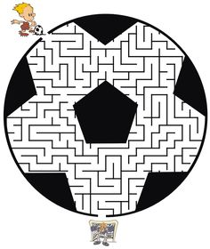 This soccer maze shaped like a soccer ball is a terrific free printable worksheet for kids who love soccer and mazes. Mazes For Kids, Worksheets For Kids, Activities For Kids, Kids Sports Party, Soccer Party, Soccer Ball, Theme Sport, Olympic Crafts, Maze Worksheet