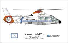 Eurocopter Dauphin prefectura naval  Argentina.