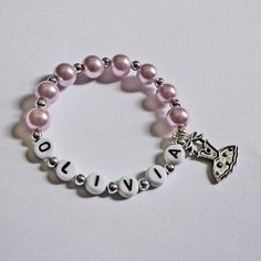 Children's Jewelry Bracelet PERSONALIZED with by stargazinglily, $4.00