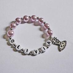 Children's Jewelry Bracelet PERSONALIZED with by stargazinglily, $4.00
