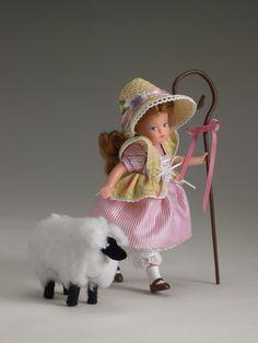 "little bo peep doll ""wee bo peep"" ~ robert tonner Bo Peep Dress, Nursery Rhyme Characters, Little Bo Peep, Nursery Rhymes, Beautiful Dolls, Floral Prints, Plush, Crochet Hats, Costumes"