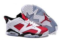 Girls Air Jordan 6 Carmine WhiteCarmineBlack Shoes For Sale YyNps