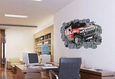 Vinyl Wall Hummer 3D car  wall decal
