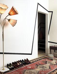 décoration, formes géométriques, graphique, intérieur, lignes, matériaux, murs, peinture