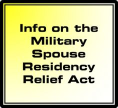 Military Spouse Residency Relief Act for CA