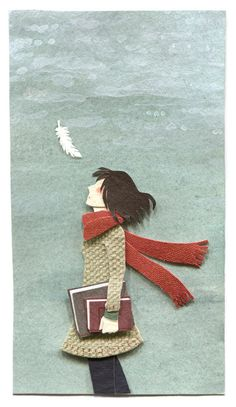 paper illustration and dioramas Miki Sato - I'm looking forward to Autumn. Art And Illustration, Illustrations Posters, Miki Sato, Arte Peculiar, Art Origami, Stop Motion, Paper Dolls, Collage Art, Illustrators