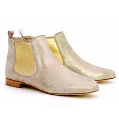 PERTINI Metallic Chelsea Boots | Spanish Fashion - SPANISH SHOP ONLINE | Spain @ your fingertips #Pertini #Chelsea #boots