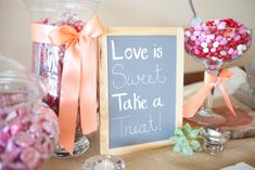 A DIY candy bar for the wedding guests! | An Outdoor Wedding That's Simply Charming | Kennedy Blue