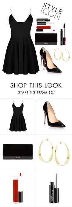 """Untitled #141"" by electraz on Polyvore featuring Christian Louboutin, Balmain, Lana and MAC Cosmetics"