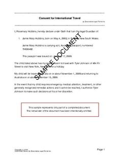 Letter Travel Child  Immigration Practitioner