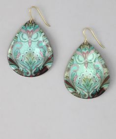 Love this Turquoise Sleeping Owl Earrings by ZAD on #zulily! #zulilyfinds