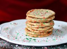 Crispy,Buttery Candy Cane Cookies - The Kitchen Magpie