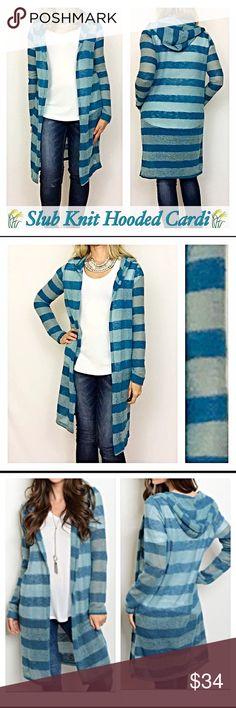 Spotted while shopping on Poshmark: ✨SALE Slub Knit Striped Cardigan Sweater Hood SML! #poshmark #fashion #shopping #style #Sweaters