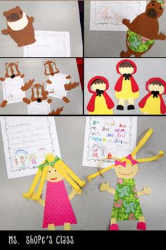 Fairy Tale Fun! Craftivities for the Three Little Pigs, Goldilocks and the Three Bears and Little Red Riding Hood! $
