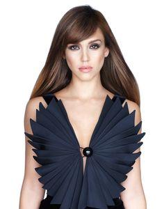 Jessica Alba in a Giorgio #Armani dress