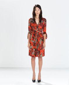 ZARA - WOMAN - FLORAL WRAP DRESS