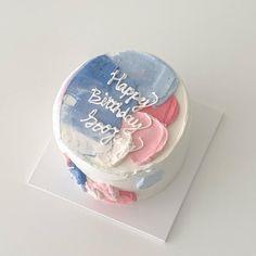 best cake ever Beautiful Birthday Cakes, My Birthday Cake, Beautiful Cakes, Amazing Cakes, Happy Birthday, Artist Cake, Simple Cake Designs, Korean Cake, Pastel Cakes