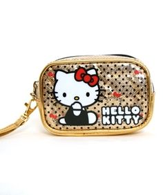 Hello Kitty Gold Sequin Camera Case